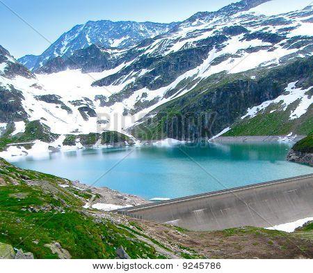 Dam on lake