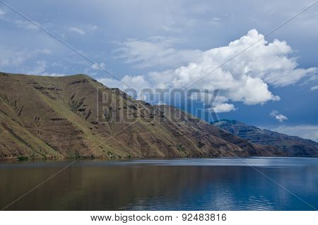 Storm Approaching Above The Slopes Of Hells Canyon