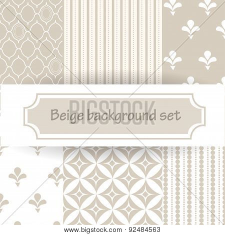 Beige Background Set