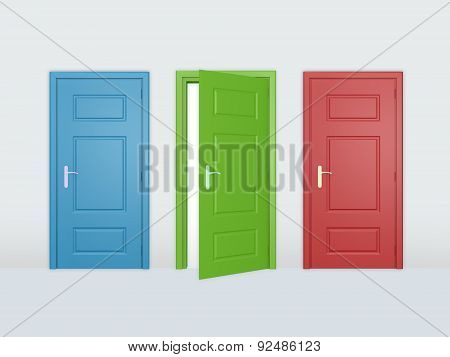 Three Different Doors