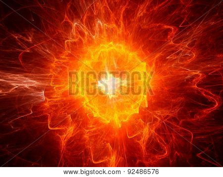 Fiery Ball Lightning