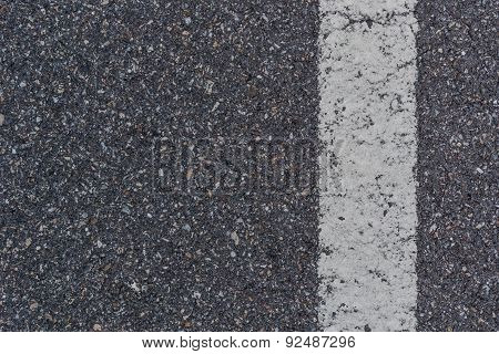 Asphalt With White Stripe