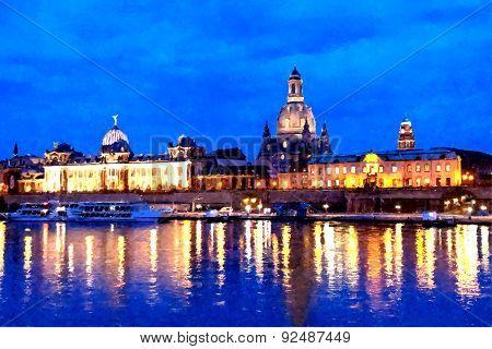 Dresden an Night