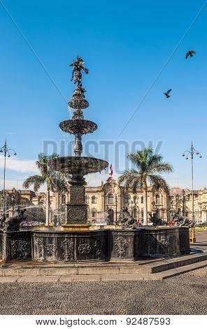 Plaza De Armas In Lima, Peru
