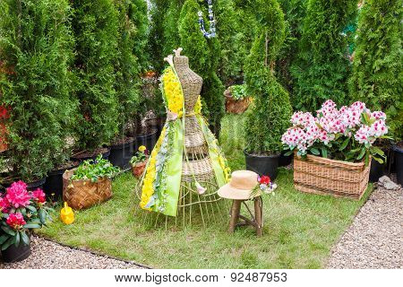 Minsk, Belarus, 23-may-2015: Fragment Of Garden Composition.