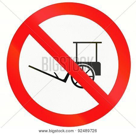 No Rickshaws In Indonesia