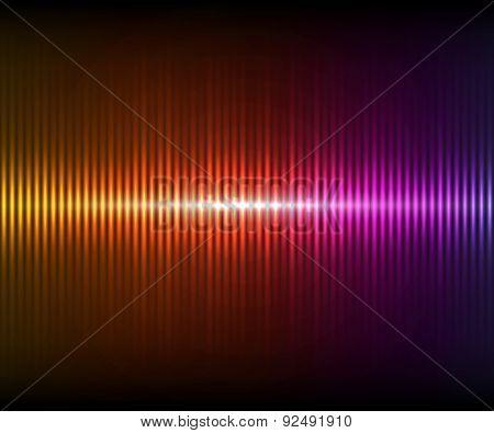 Colorful Digital Shining Equalizer. Vector Illustration.