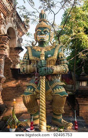 Giants in thailand temple