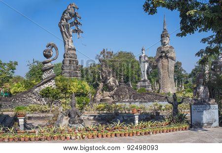 Sala Kaeo Kou (wat Khaek), Near Nong Khai, Thailand.