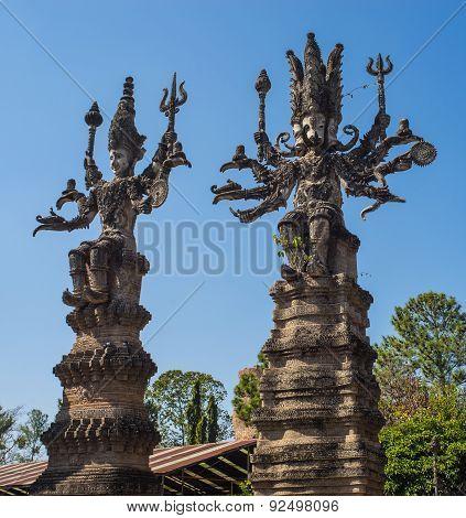 Religion Scruptures In Sala Kaeo Kou (wat Khaek), Near Nong Khai, Thailand.