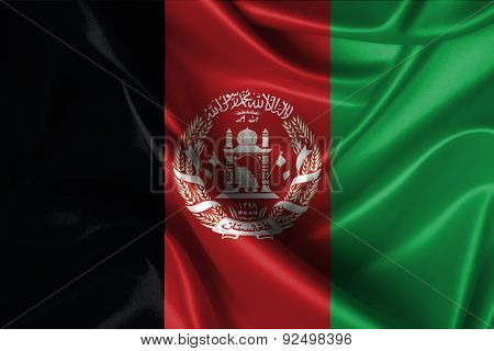 Wavy Flag Of Afghanistan