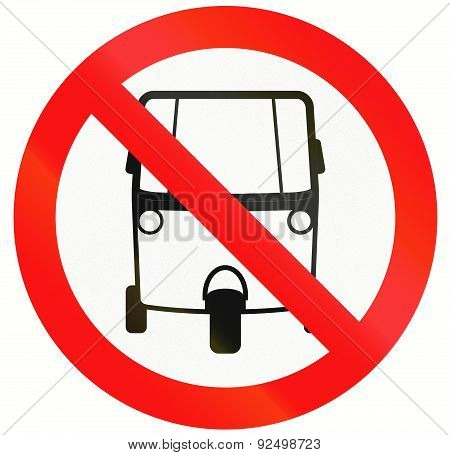 No Motorized Tricycles In Indonesia