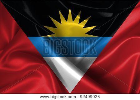 Wavy Flag Of Antigua And Barbuda