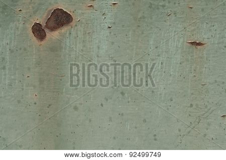 Texture Of Old Rusty Metal Green, For Design