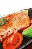 picture of plate fish food  - healthy diet food - JPG