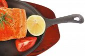 image of plate fish food  - healthy diet food - JPG