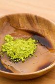 foto of kudzu  - Close up of Japanese confectionery - JPG