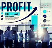 picture of accumulative  - Profit Finance Data Analysis Money Accumulation Concept - JPG