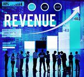 image of revenue  - Revenue Profit Income Finance Money Concept - JPG