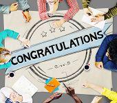pic of congratulation  - Congratulations Achievement Celebration Admiration Concept - JPG