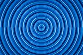 picture of psychedelic  - vivid blue seamless psychedelic circle vector background - JPG