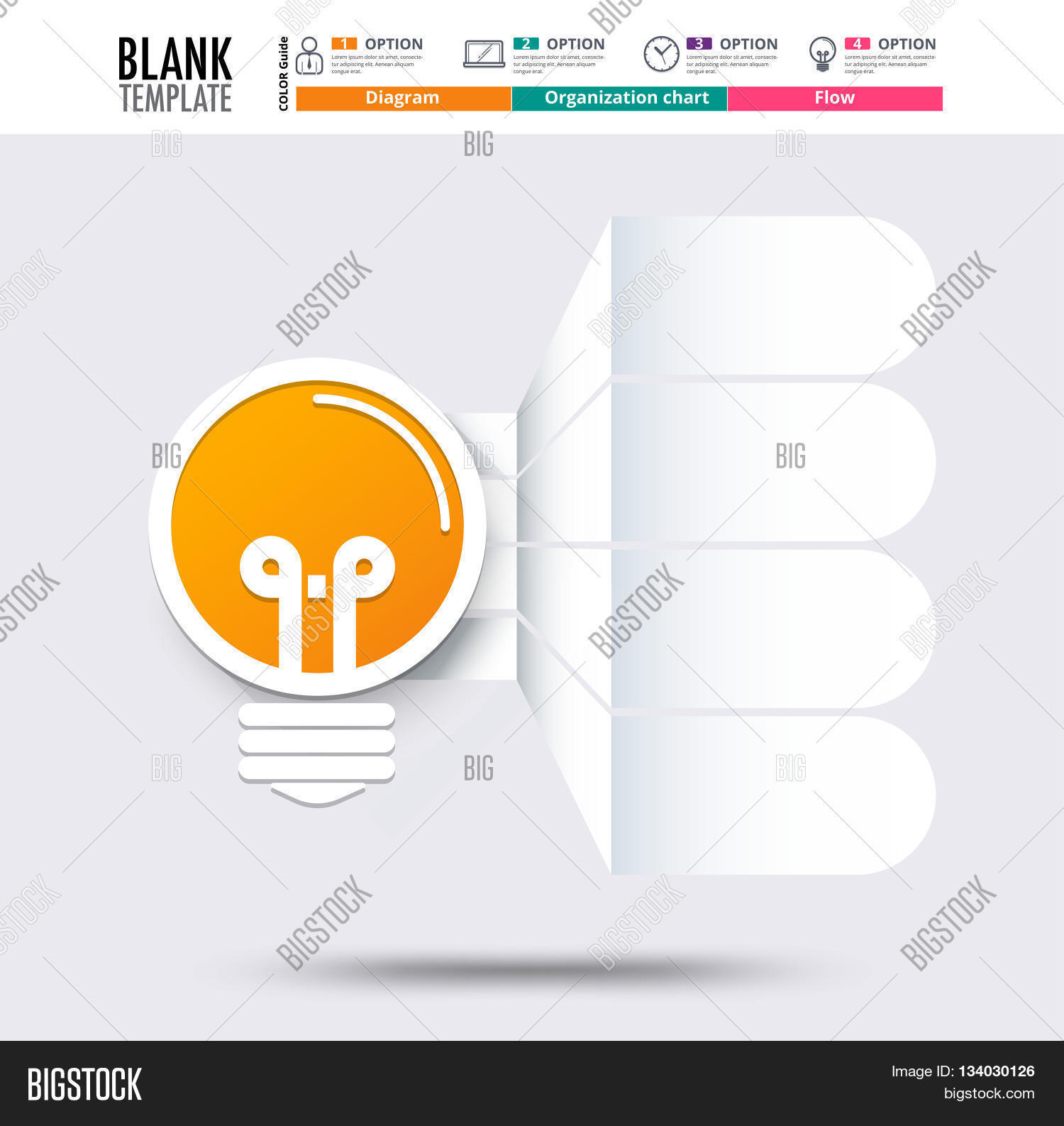 Idea Infographic Template (blank Vector & Photo | Bigstock