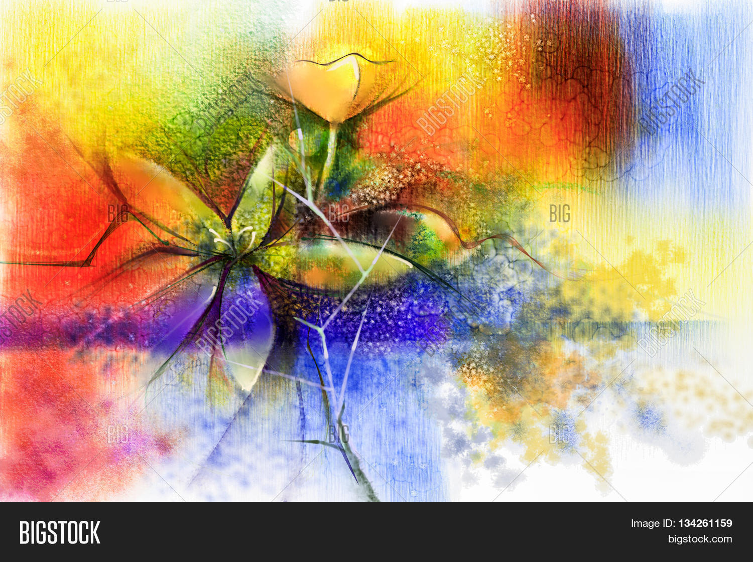 Abstract Flower Paintings Download