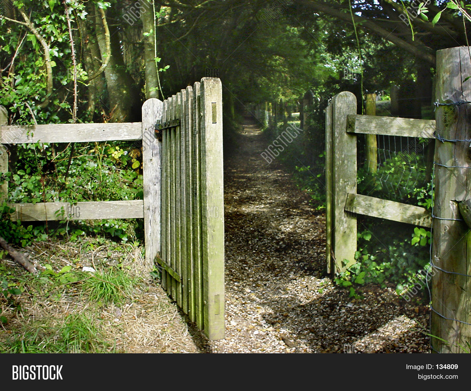 Open gate stock photo images bigstock