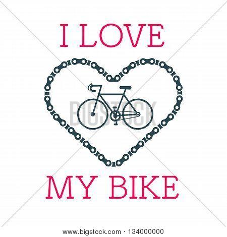 Bike Heart Vector
