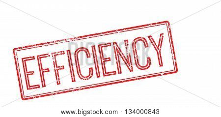 Efficiency Red Rubber Stamp On White