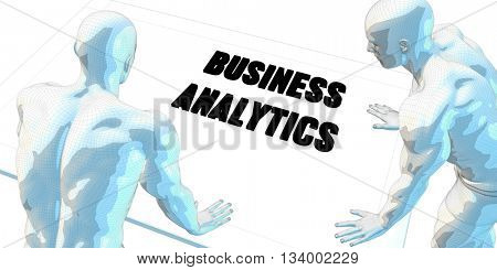 Business Analytics Discussion and Business Meeting Concept Art 3d Illustration Render