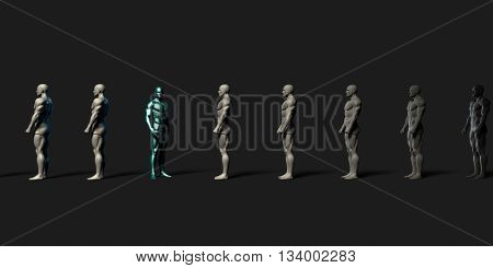 Stand Out from the Crowd with Unique Professional From Others 3d Illustration Render