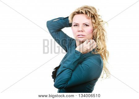 Confused Worried Business Woman