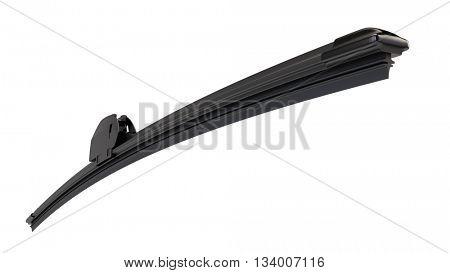 Modern frameless wiper blade isolated on white. 3d render