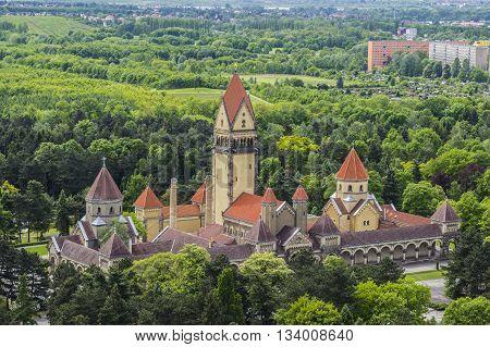 The old historic crematorium of Leipzig Germany
