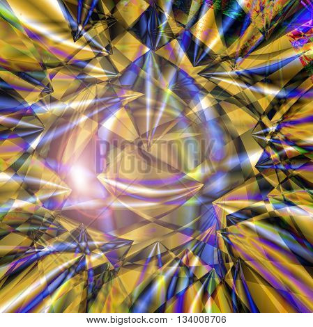 Abstract coloring background of the square wood frame  gradient with visual lens flare and pinch effects,good for your idea design