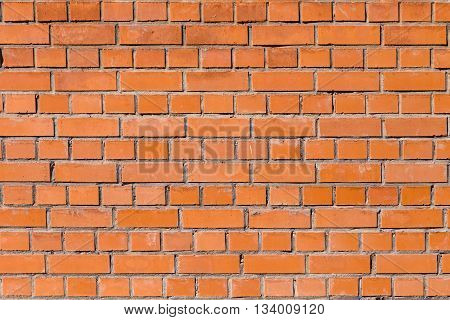 old brick wall in harmonic red pattern