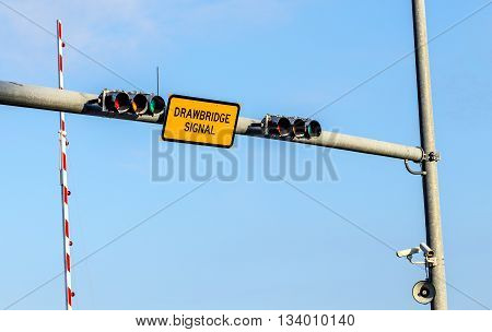 Drawbridge Signal With Traffic Light