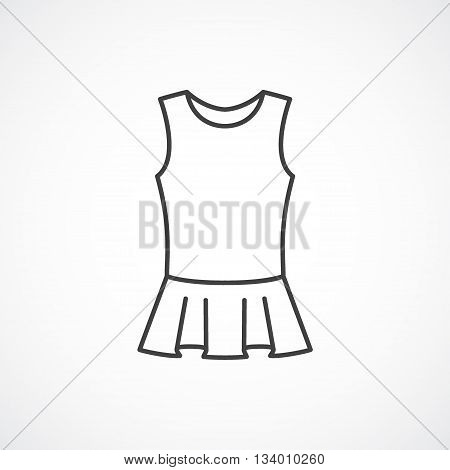 Peplum top vector line icon isolated on white background
