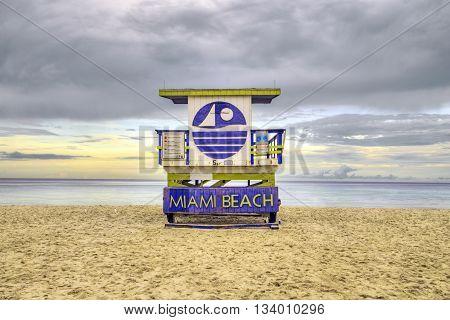Wooden Beach Hut In Art Deco Style