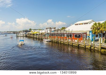 Old City Dock  In Tropical Naples Florida