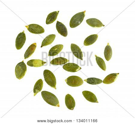 pumpkin seeds isolated on a white background