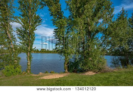 Beautiful landscape with a lake in Germany