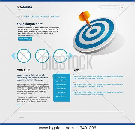 Modelo de design de Web site