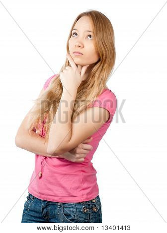 Thoughtful Teenage Girl