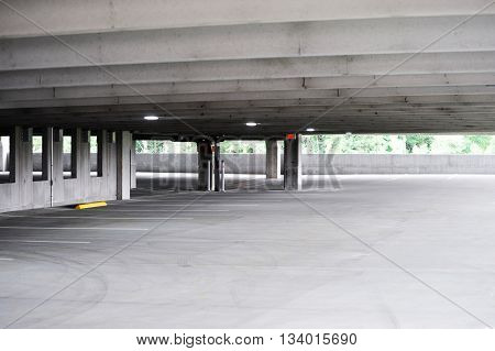 parking lot interior with no car for design