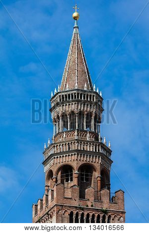 Torrazzo the bell tower of the Cremona's Cathedral completed in 1309 is the third tallest brick bell tower in the world and is the oldest brick structure taller than 100 m that is still standing.