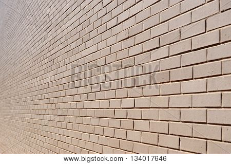 brick wall perspective view for design background