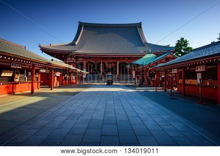 Tokyo City - Sensoji-ji Temple - Asakusa district, Japan, Asia. Tokyo historic architecture. Tokyo C