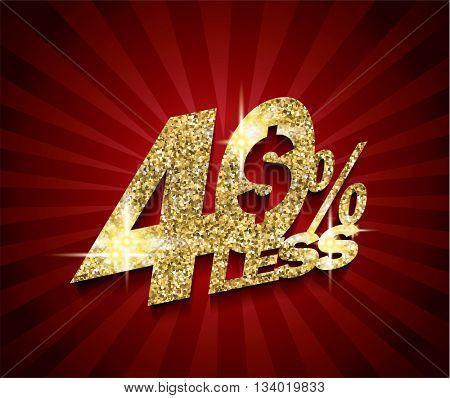 Golden Sale concept vector banner. sale layout design. rich and fashion vector illustration